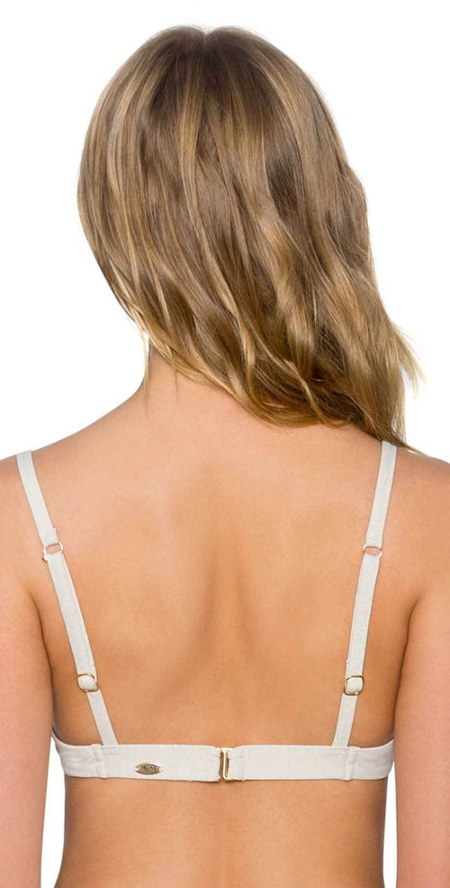Sunsets Legend Underwire Push Up Top in Gold Dust Back View