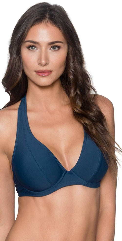 Sunsets women's cup sized slate halter top