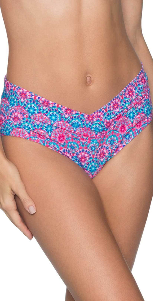 Sunsets Summer Lovin V-Front Bottom in Stained Glass 31B-STGL:
