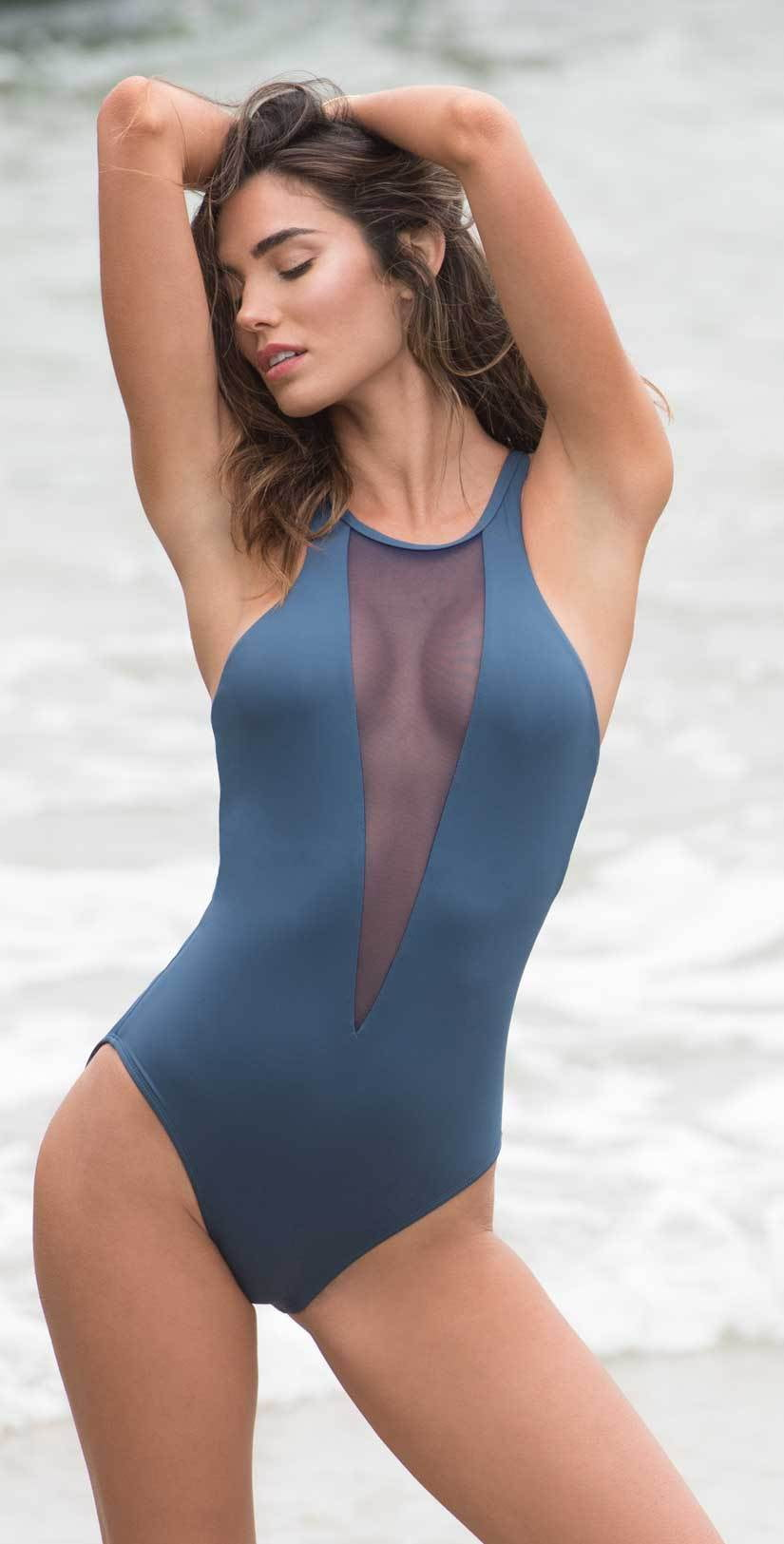 Sunsets Bond One Piece Swimsuit in Slate 110-SLTE: