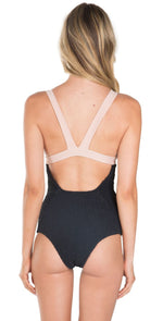 Tori Praver Isabella Crete Colorblock One Piece Swimsuit: