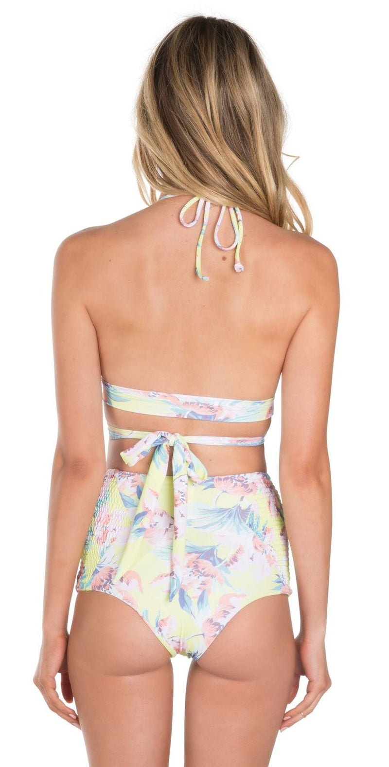 Tori Praver Francesca Limoncello Milos Floral High Waist Bottom: