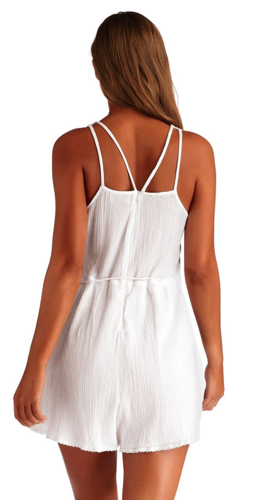Vitamin A Racquel Romper in White 7RP LBG Back View