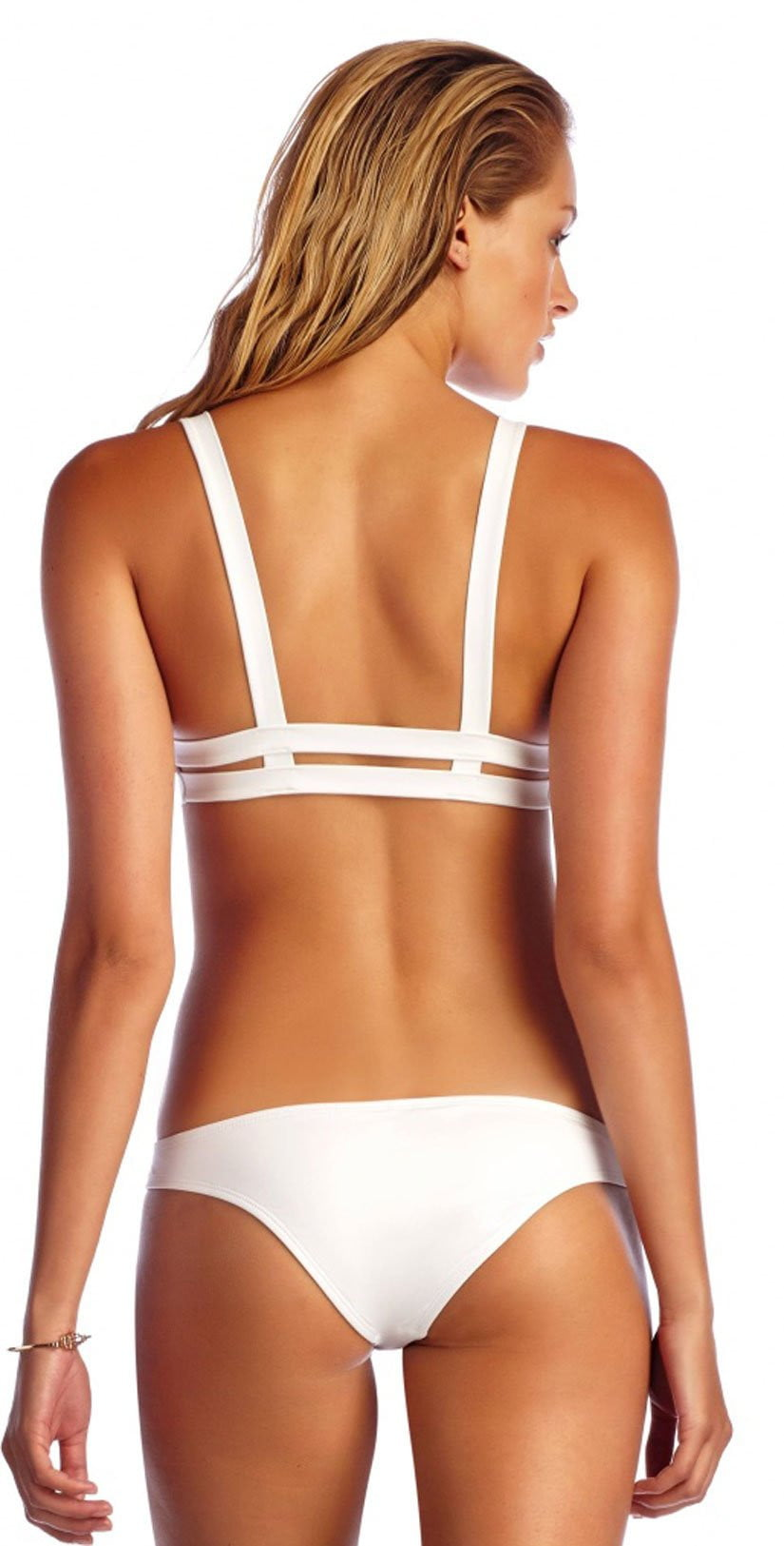 Vitamin A Eco Neutra Bralette Top in White 40T-ECW:
