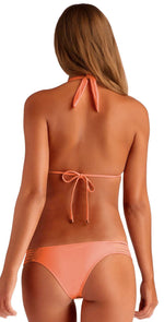 Vitamin A Jaydah EcoLux Braided Triangle Top in Coral 72T PEA: