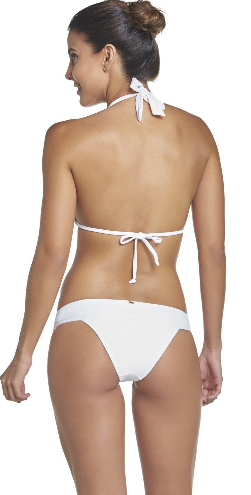 PilyQ Water Lily Lace Teeny Bikini Bottom in White WAT-222T: