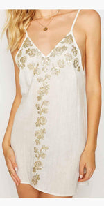 Beach Bunny Anaya Mini Dress in Ivory: