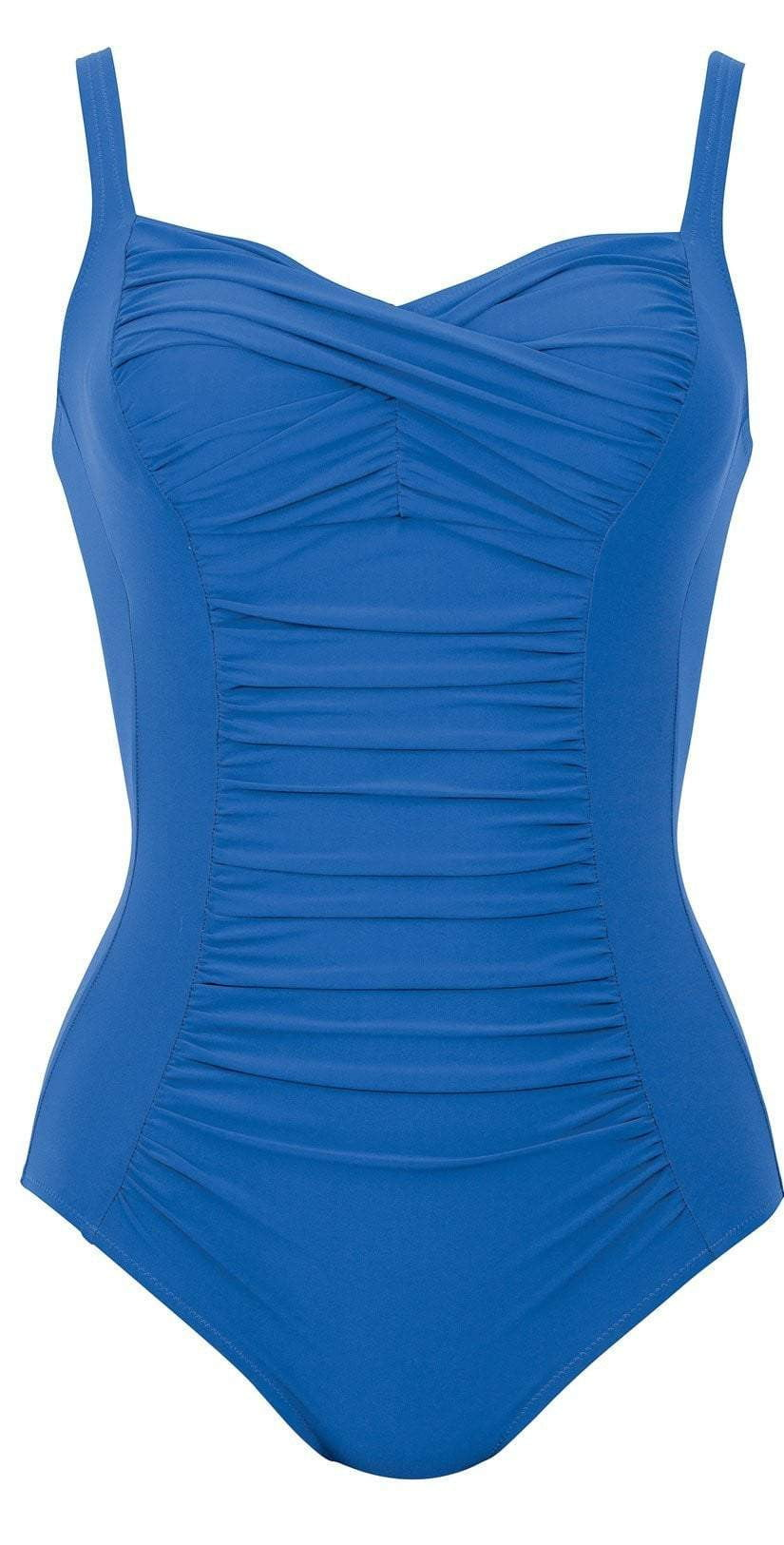 Anita Comfort Michelle One Piece Swimsuit in Blue 7370-354 front studio