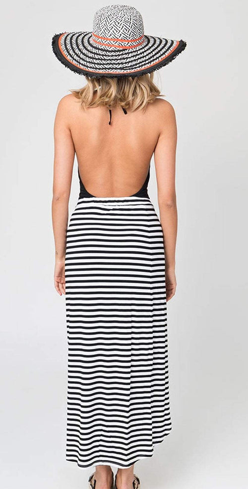 Pia Rossini Allure Maxi Skirt In Black And White ALL00051: