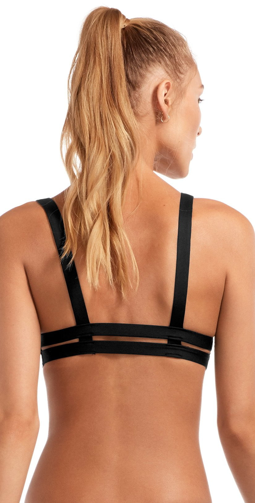 Vitamin A EcoLux Neutra Bralette Top in Black 40T ECB back view