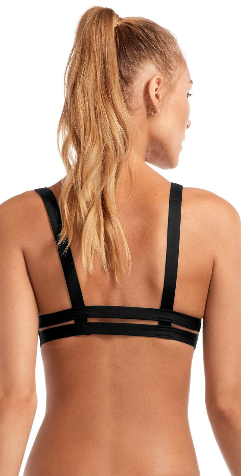 Vitamin A EcoLux Neutra Bralette Top in Black 40T-ECB: