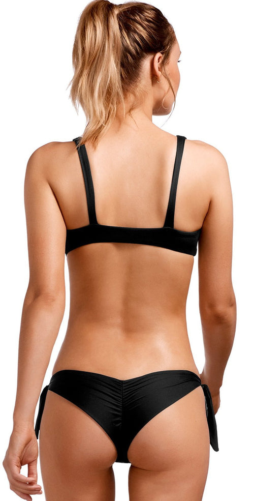Vitamin A EcoLux Lou Top in Black 918T-ECB back top and bottom