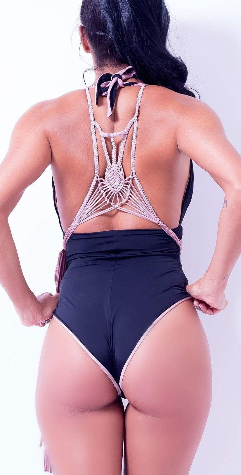 Charmosa Camille One Piece in Flan with Macrame: