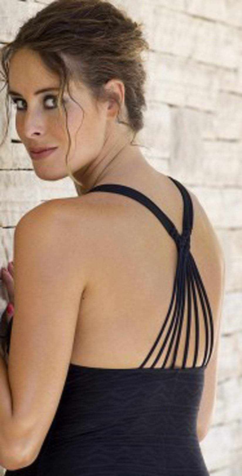 Cache Coeur Maternity Bali One Piece Swimsuit In Black BM174-NOIR: