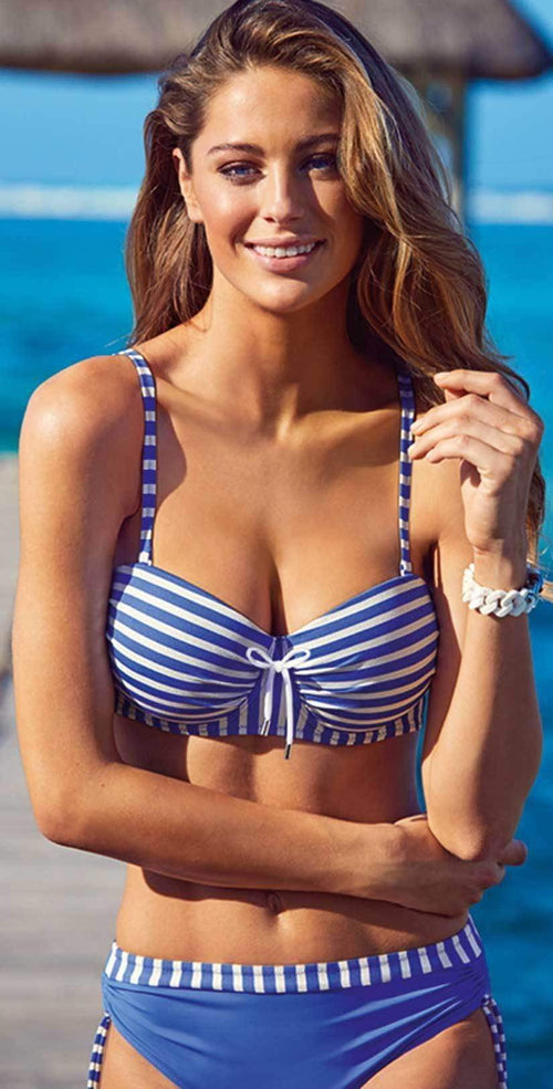 19a9e69ab Lidea Barbados Blue and White Striped Underwire Bikini Set 7883-670-950