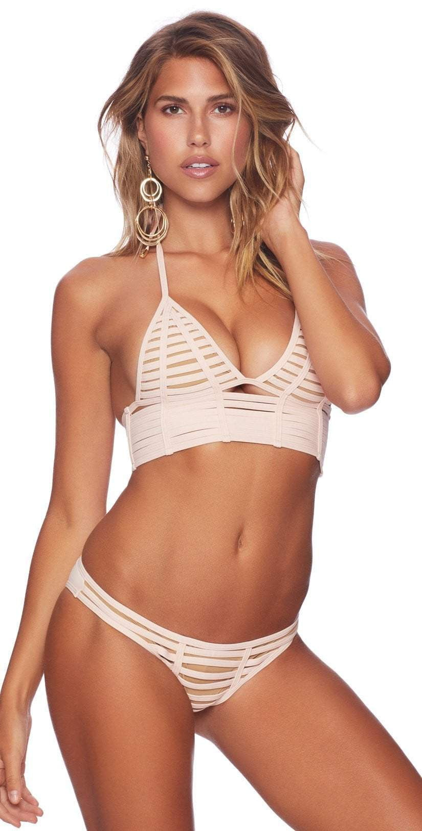 Beach Bunny Hard Summer Skimpy Bottom in Blush B16104B1-BLUSH: