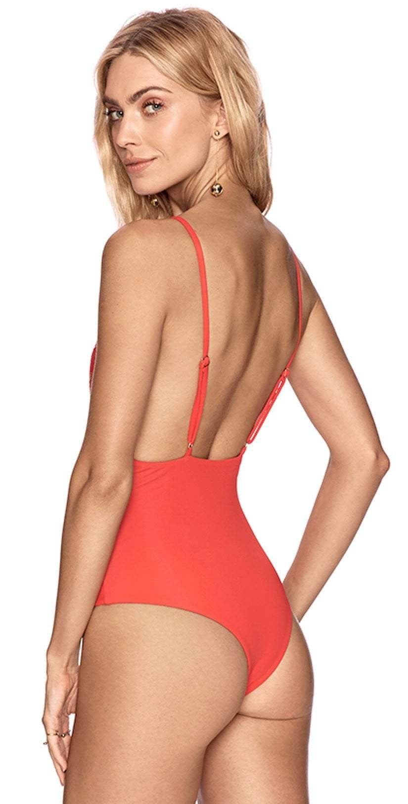 Beach Riot Bridget One Piece In Red DFALOP3-RED: