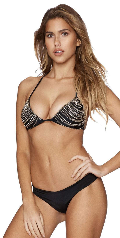 Beach Bunny Chain Reaction Triangle Top B16142T1-BLK