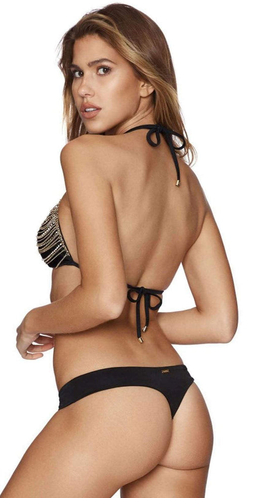 Beach Bunny Chain Reaction Triangle Top B16142T1-BLK: