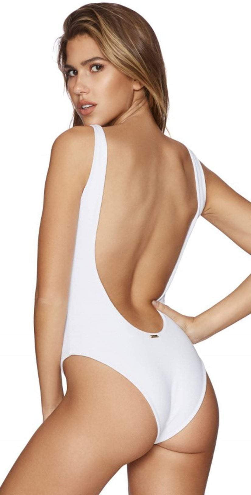 d9754165f204a Beach Bunny Rib Tide One Piece In Blue and White B171251P-100 ...