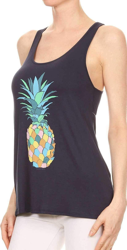 Bear Dance Multi Color Pineapple Tank Top T2511: