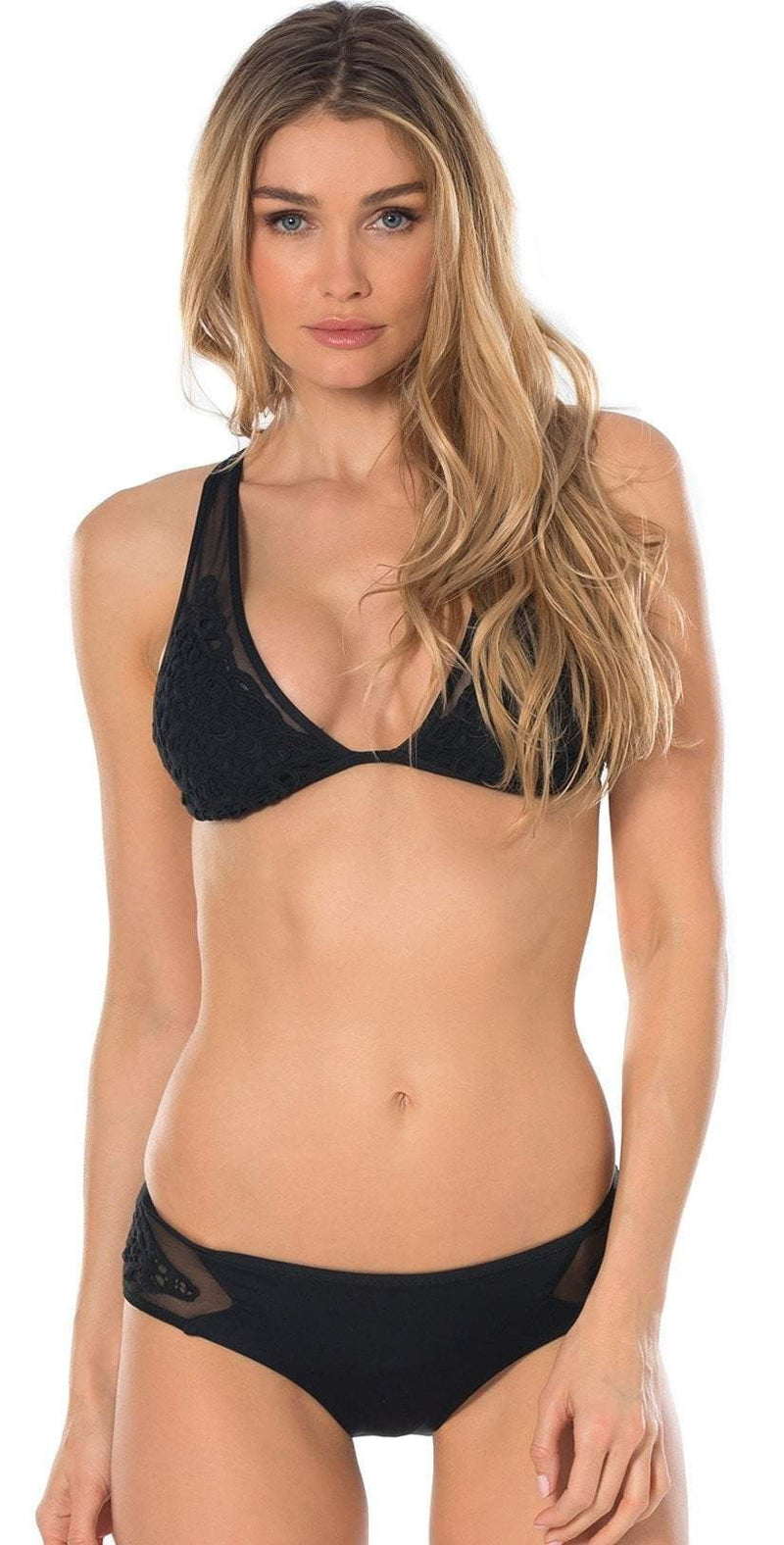 Becca Sicily Sheer Hipster Bottom in Black 444477-BLK: