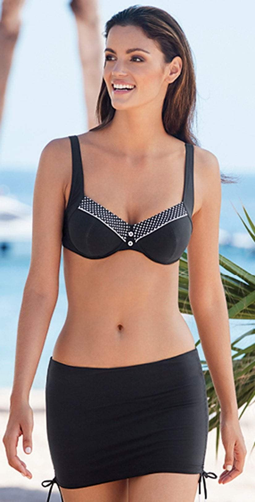 Lidea Capri Black and White Bikini Top 7576-583-077:
