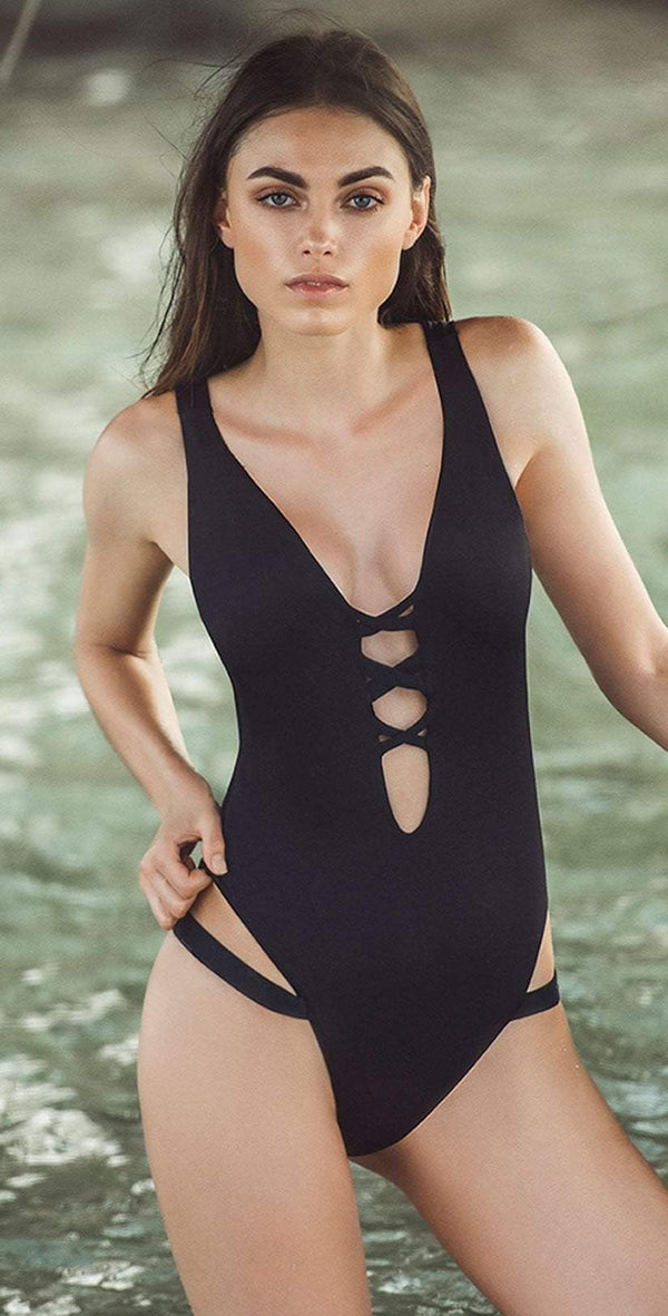 Boamar Caviar One Piece in Black FPC005-BLK