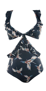 Boamar Dominic One Piece in Navy Blue Floral FPC007-BLFL:
