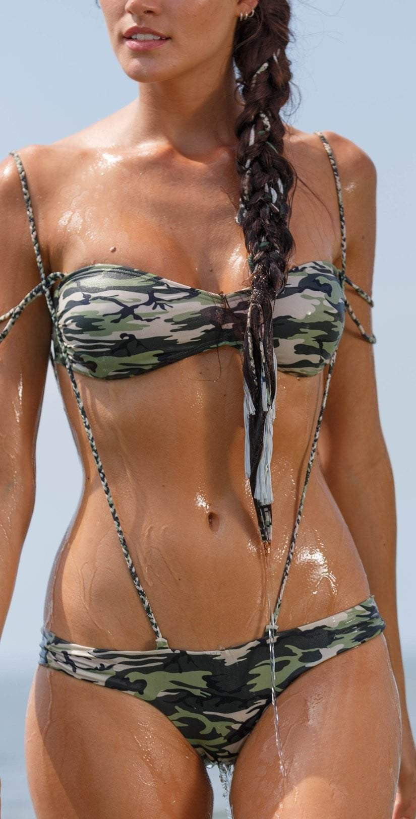 Flordepiel Camo Chain Top and Paty Camo Bottom