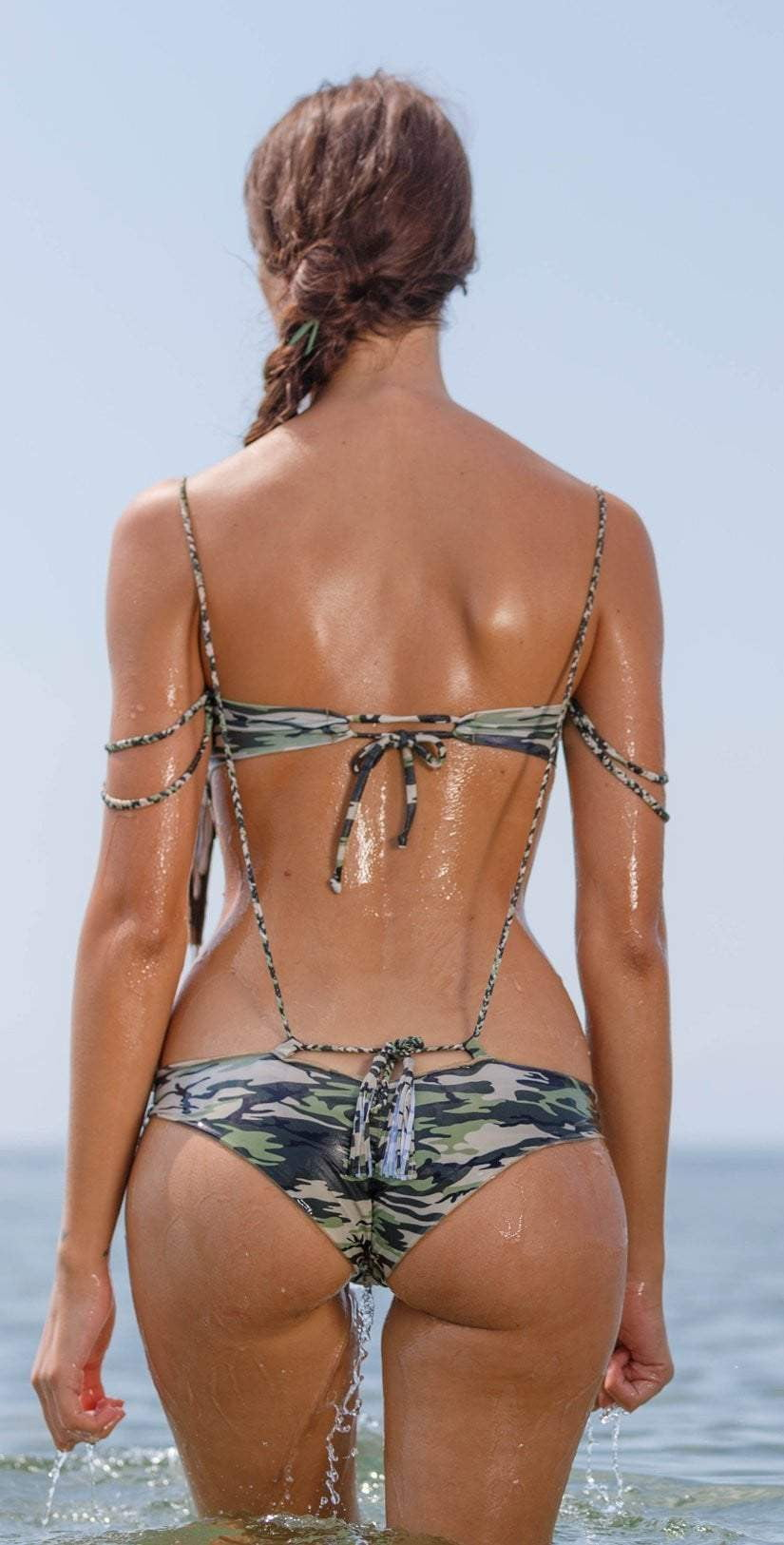 Flor de Piel Chain Top in Camo: