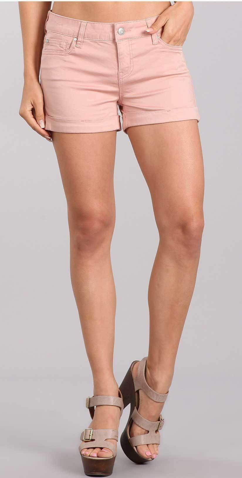 "Celebrity Pink Jean 3"" Mid Rise Shorts in Misty Rose CJ3050Z35:"