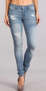 Celebrity Pink Skinny Mid Rise Ankle Pant In Olympian CJ21438SS: