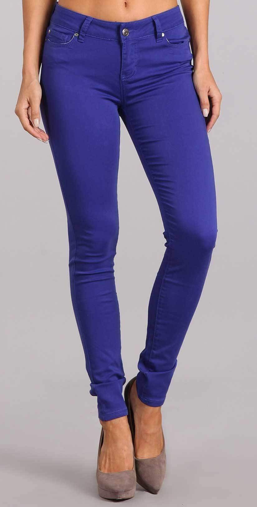 Celebrity Pink Skinny Mid Rise Pant In Spectrum Blue CJ21038Z35:
