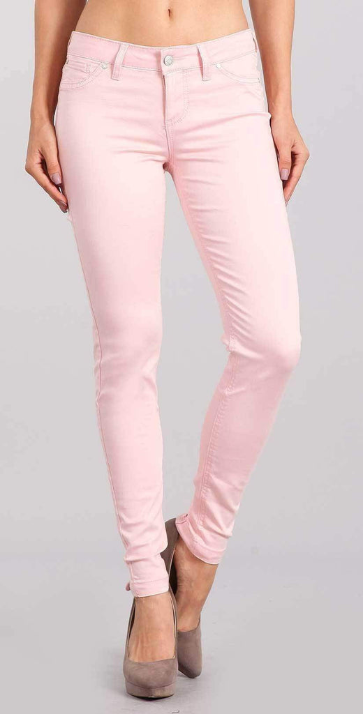 Celebrity Pink Skinny Mid Rise Ankle Pant In Lavish Pink