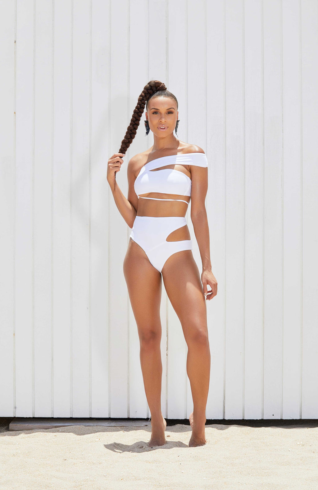 Keva J Port More Asymmetrical High Waist Bikini Set