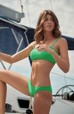PQ Swim Sea Green Ring Bralette Bikini Top
