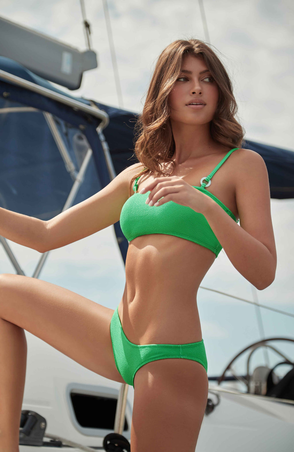 PQ Swim Sea Green Reef Bikini Bottoms