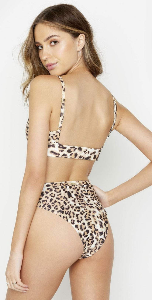 Beach Bunny Emerson Bralette in Leopard B18138T0 LEO1 back view of leopard bikini
