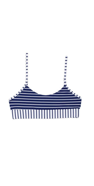 Beach Bunny Emerson Bralette in Navy and White B18138T0-NVWS:
