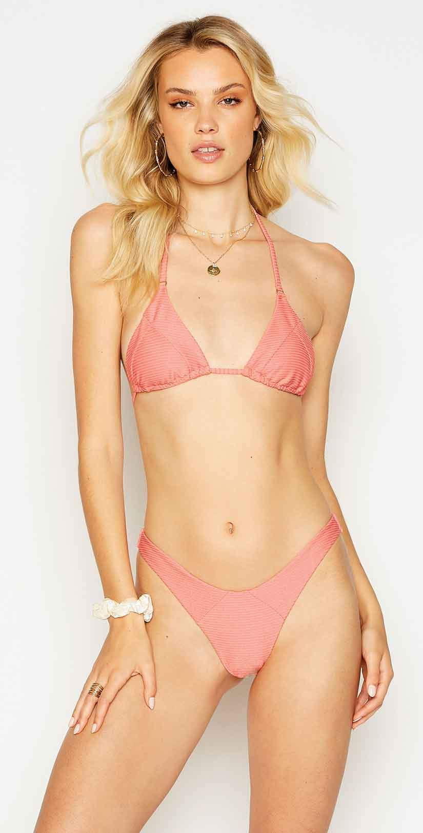 Beach Bunny Emma Tri Top in Rose: