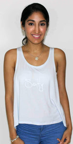 Ete Apparel Salty Tank  Top in Light Blue 1-10-SALTY-17-P: