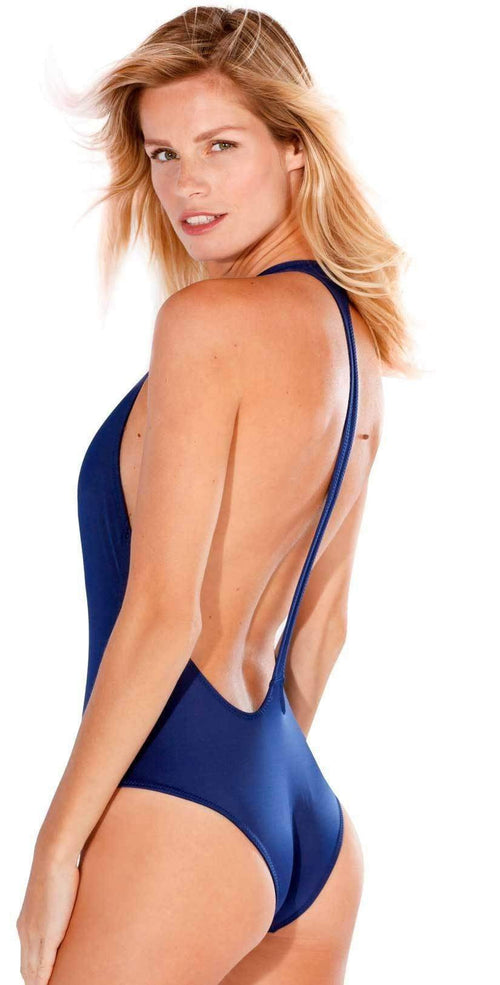 Sexy Navy One Piece Swimsuit