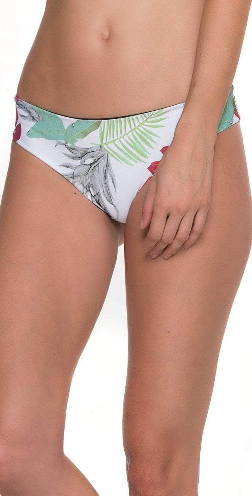 Malai Merry Blossom Reversible Ruched Bottom B00349-BLK bottom