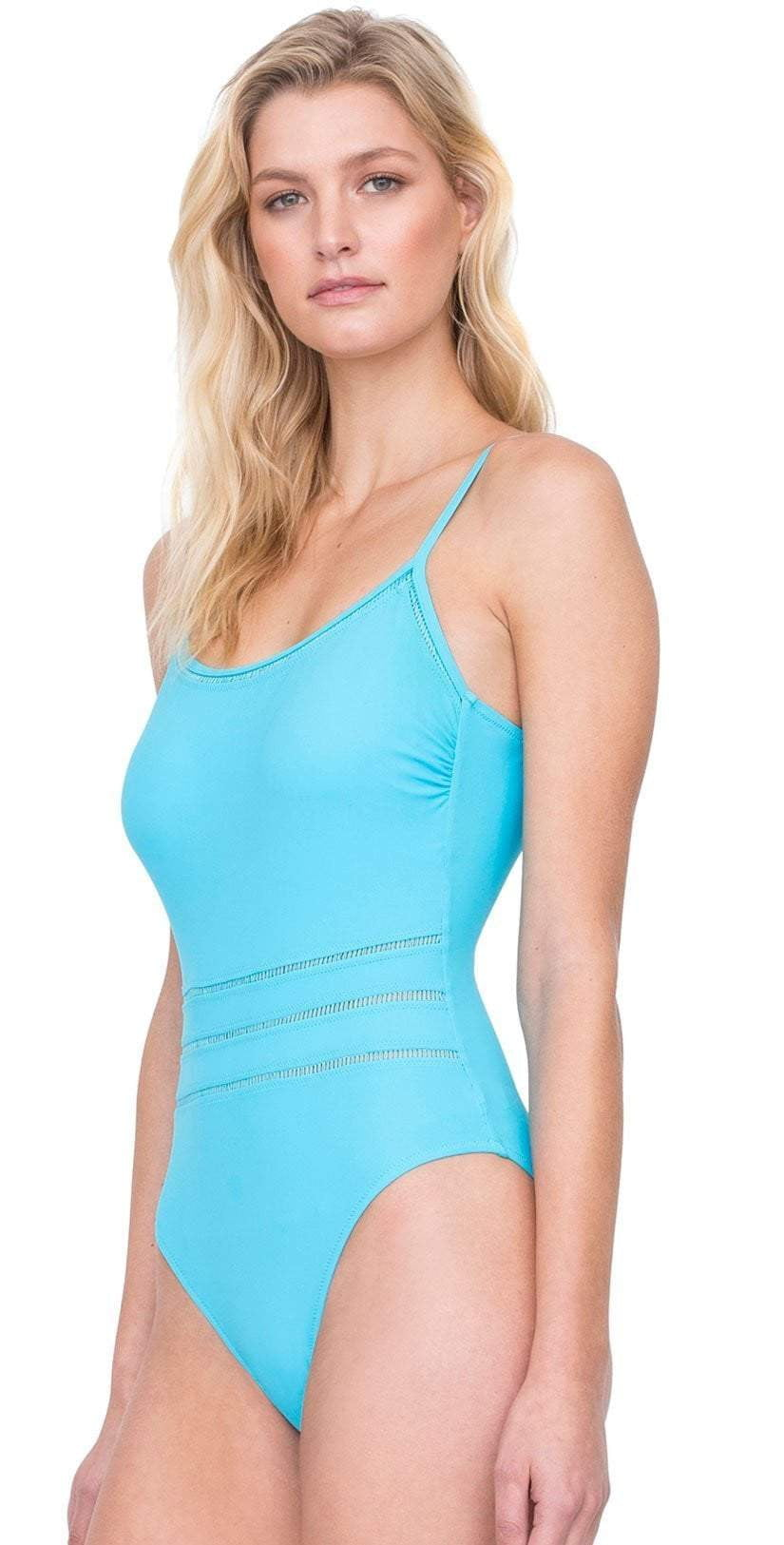 Gottex Finesse Round Neck Tank One Piece Swimsuit Side View