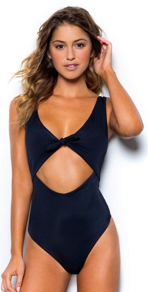 bd51bad3dcf Peixoto Sophia One Piece Swimsuit in Black 31701F-S46-BLK front view of one