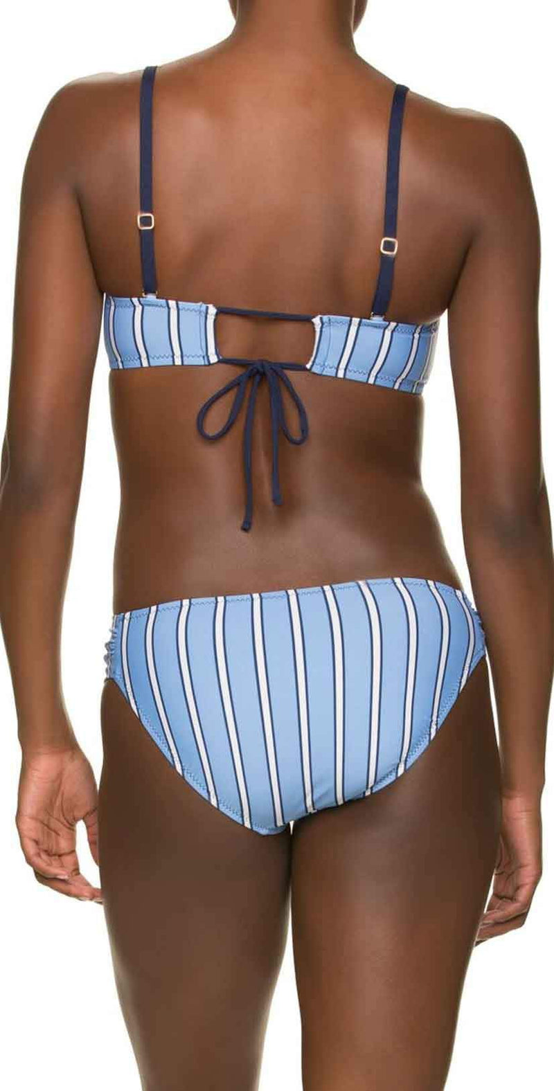 Draper James for Helen Jon Tucked Bandeau Bra in Bold Stripe: