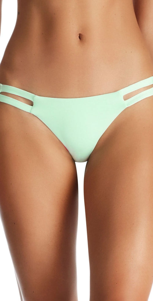 Vitamin A Neutra EcoLux Bikini Bottom in Glacier 42B GLE front view of bottoms