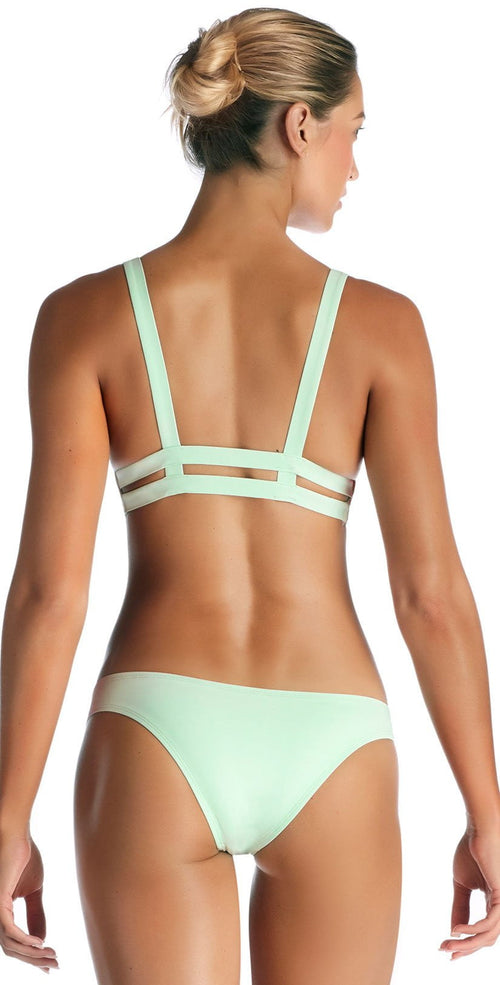 Vitamin A Glacier EcoLux Neutra Hipster Bikini Bottom 42B GLE back view of top and bottom