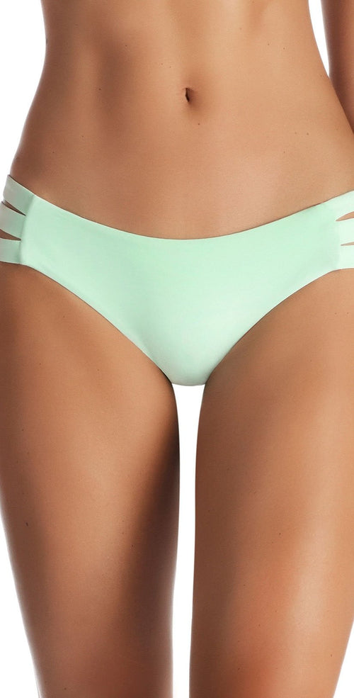 Vitamin A Emelia EcoLux Triple Strap Bottom in Glacier 717B GLE front of bottoms only